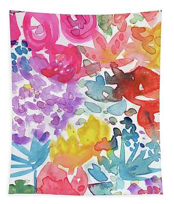 Expressionist Watercolor Garden- Art By Linda Woods Tapestry