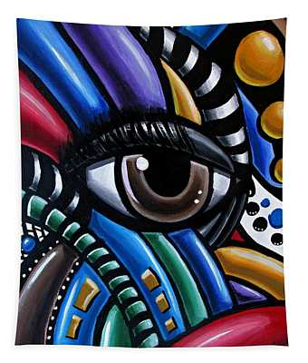 Eye Abstract Art Painting - Intuitive Chromatic Art - Pineal Gland Third Eye Artwork Tapestry