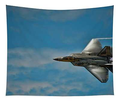 F22 Raptor Steals The Show Tapestry