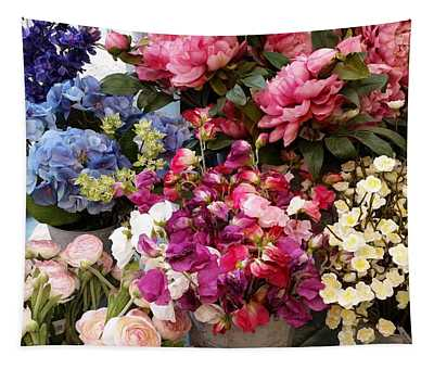 Fabric Flowers Tapestry