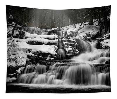 Factory Falls In Winter Tapestry