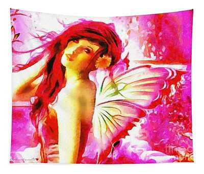 Fairy Angel In The Mix In Thick Paint Tapestry