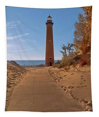 Fall At Little Point Sable Light Tapestry