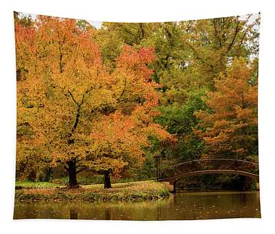 Fall At The Arboretum Tapestry