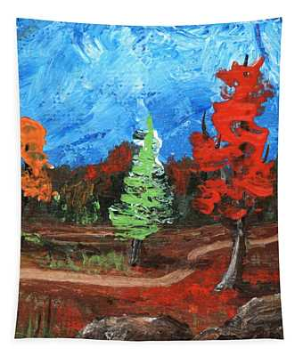 Tapestry featuring the painting Fall Colours #2 by Anastasiya Malakhova