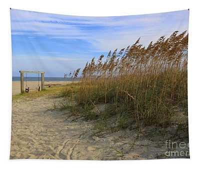Fall Day On Tybee Island Tapestry