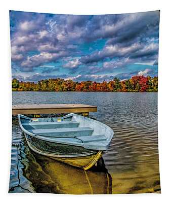 Fall On Alloway Lake Tapestry