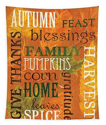 Fall Typography 1 Tapestry