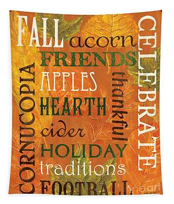 Fall Typography 2 Tapestry