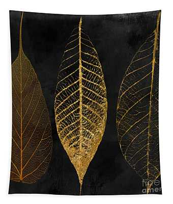 Fallen Gold II Autumn Leaves Tapestry