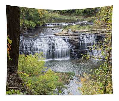 Falls Through The Trees Tapestry
