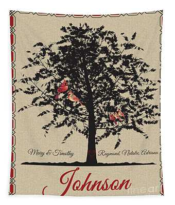 Family Tree-personalized Tapestry