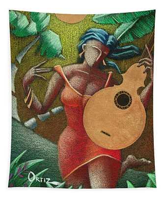 Fantasia Boricua Tapestry