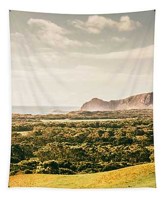 Farm Fields To Seaside Shores Tapestry