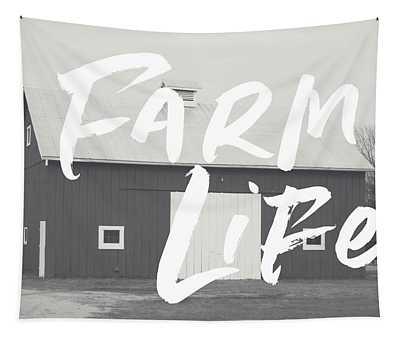 Farm Life Barn- Art By Linda Woods Tapestry