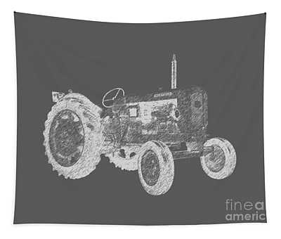 Farm Tractor Tee Tapestry