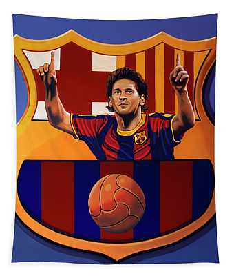 Fc Barcelona Painting Tapestry