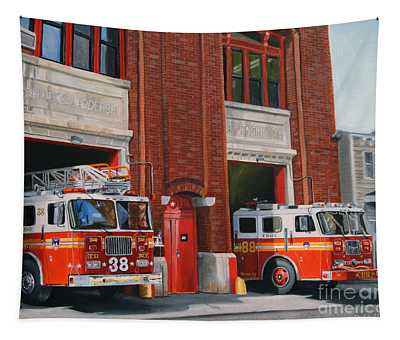 Fdny Engine 88 And Ladder 38 Tapestry