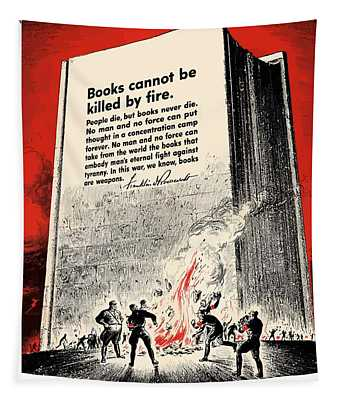 Fdr Quote On Book Burning  Tapestry