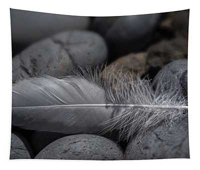 Feather On The Rocks Tapestry