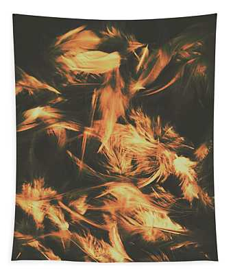 Feathers And Darkness Tapestry