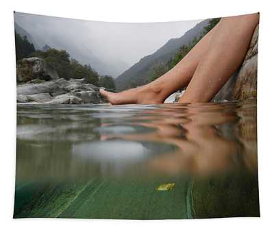 Feet On The Water Tapestry