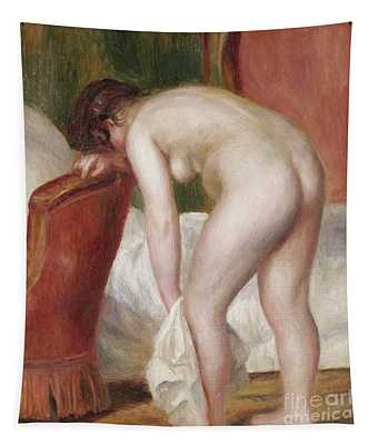 Female Nude Drying Herself Tapestry