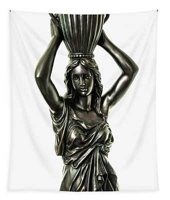Female Water Goddess Bronze Statue 3288a Tapestry