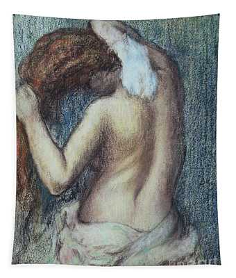 Femme A Sa Toilette Tapestry