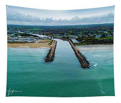 Fenway Beach Breakwater Tapestry