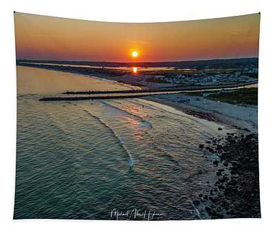 Fenway Beach Sunset Tapestry