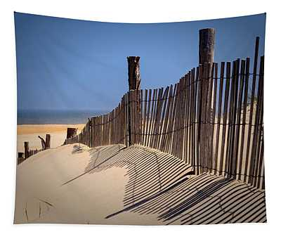 Fenwick Dune Fence And Shadows Tapestry