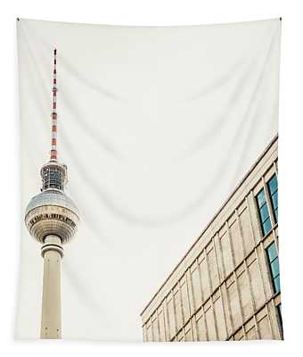 Fernsehturm And Building In Berlin Tapestry