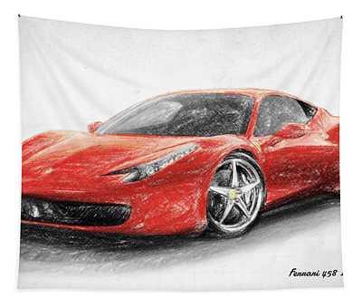 Ferrari 458 Italia Tapestry
