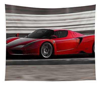 Ferrari Enzo - Rosso Corsa Tapestry by Andrea Mazzocchetti