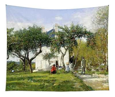 Fervaques, Garden And House Of Monsieur Jacquette, 1877 Tapestry