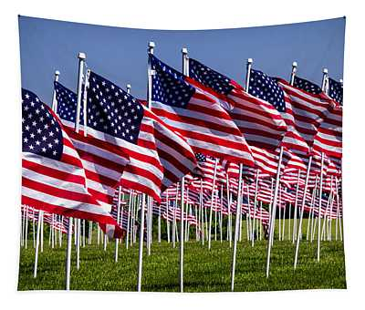 Field Of Flags For Heroes Tapestry