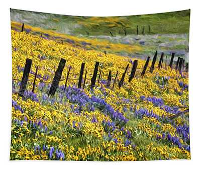 Field Of Gold And Purple Tapestry