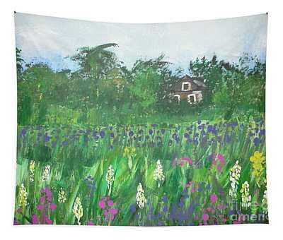 Field Of Wildflowers Tapestry