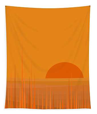 Field Sunset Tapestry