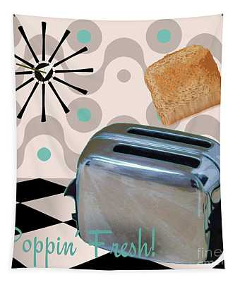 Fifties Kitchen Toaster Tapestry