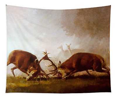 Fighting Stags II. Tapestry
