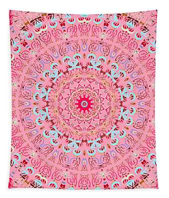 Tapestry featuring the digital art Fine China Kaleidoscope by Joy McKenzie