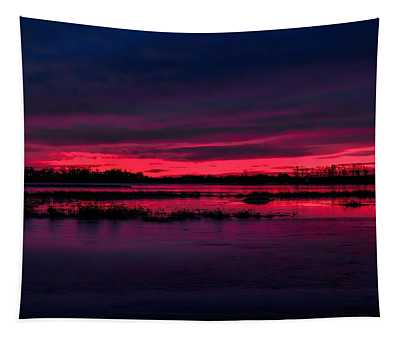 Fire And Ice Sunrise Tapestry