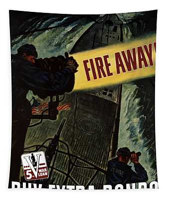 Fire Away Tapestry