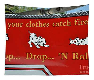 Fire Drop Tapestry