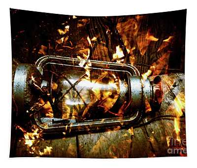 Fire In The Hen House Tapestry