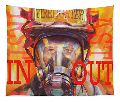 Firefighter Tapestry
