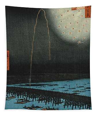 Fireworks At Ryogoku Tapestry