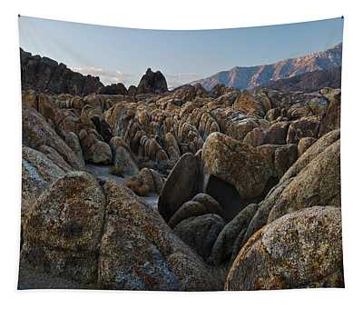 First Light Over Alabama Hills California Tapestry